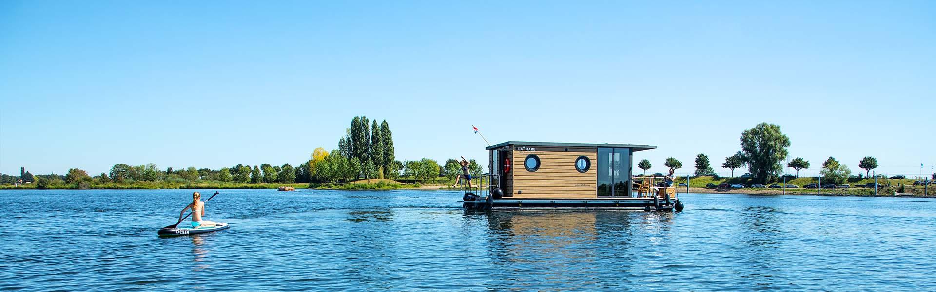 Huisboot huren Maaslplassen Holland Nederland Limburg