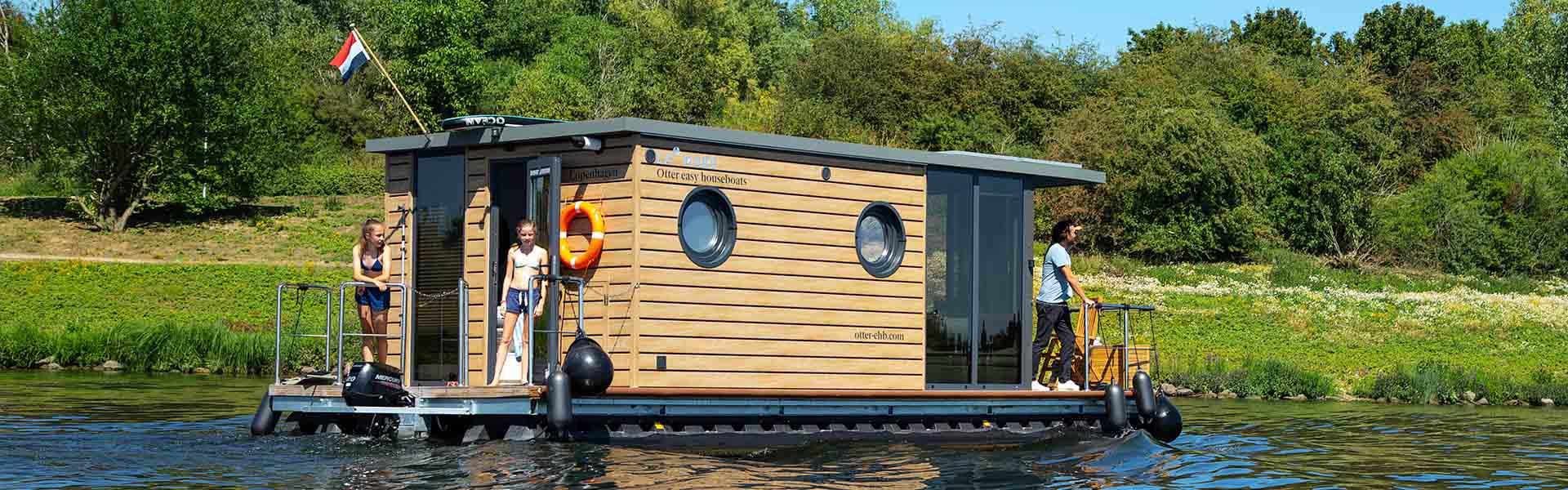 Huisboot huren Comfortklasse M Otter Easy Houseboats exterieur5